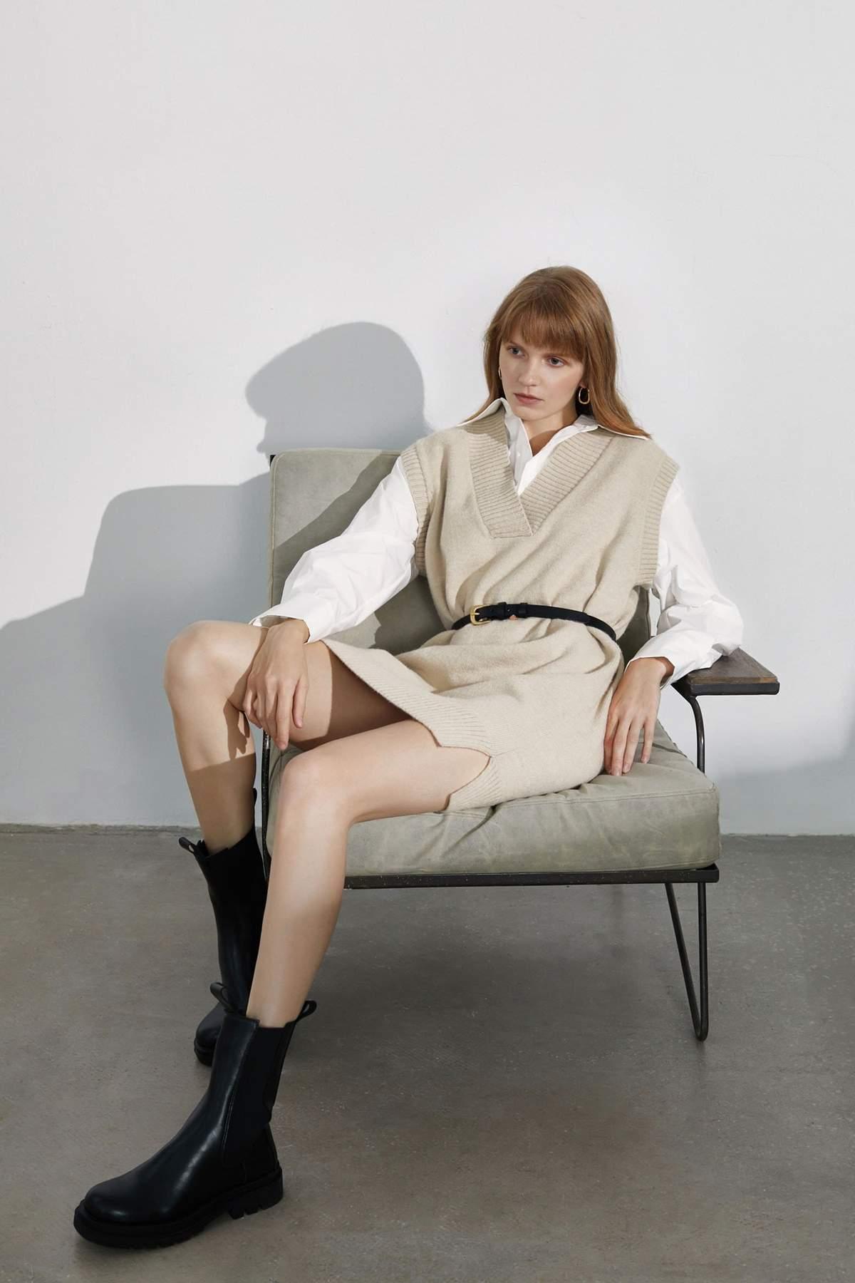 Essential Khaki Knit Vest $29.99
