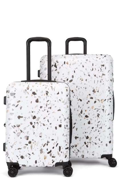 Terrazo 30-Inch & 22-Inch Hard Side Spinner Suitcase & Carry-On Set $112.47