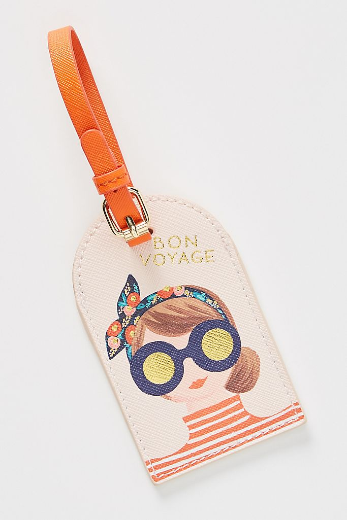 Rifle Paper Co. for Anthropologie Bon Voyage Luggage Tag $26.00