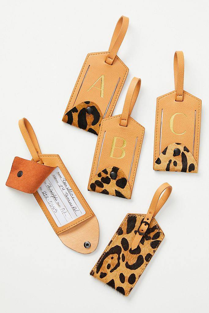 Animalia Monogram Luggage Tag $14.95