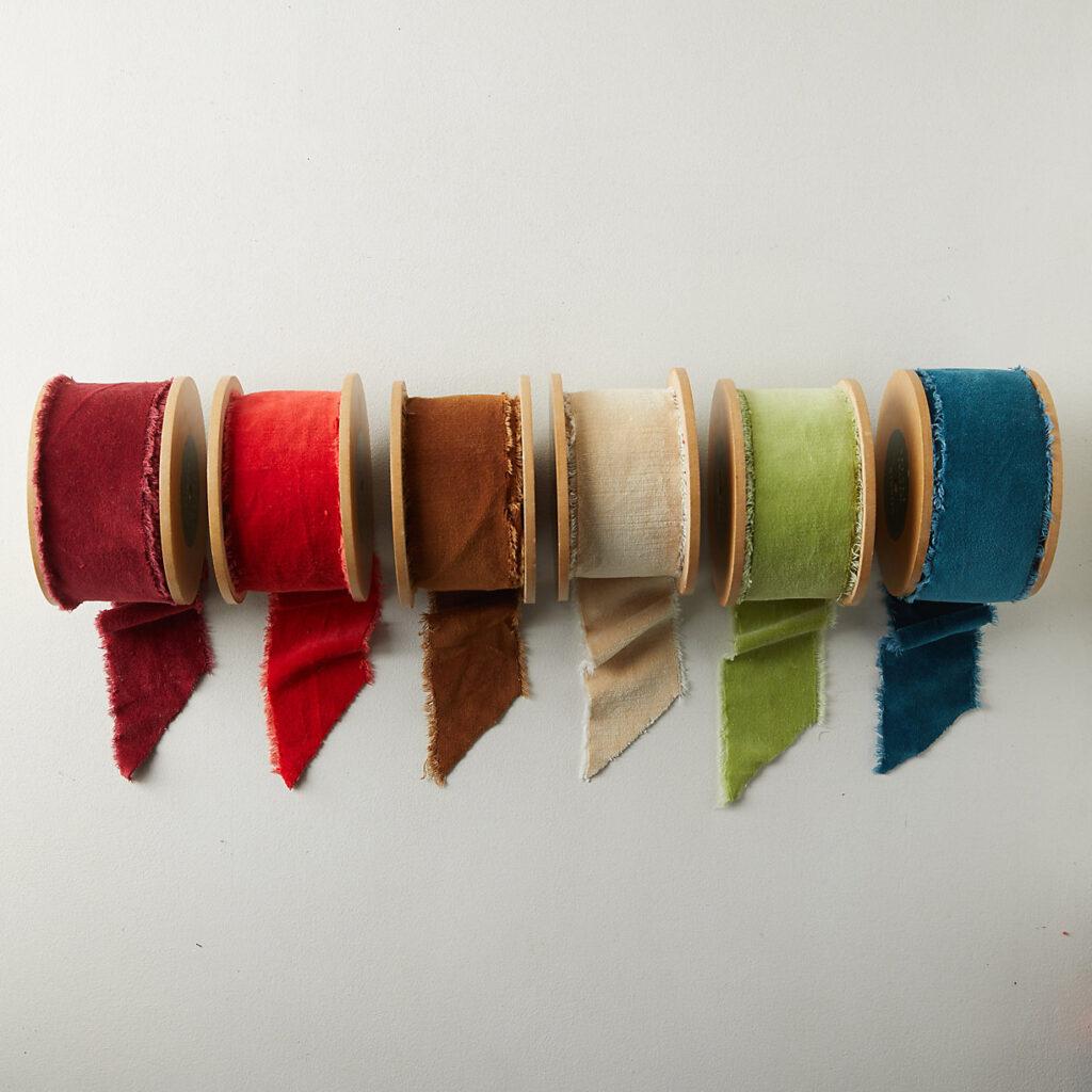 Antiqued Frayed Velvet Ribbon, 64MM $48.00