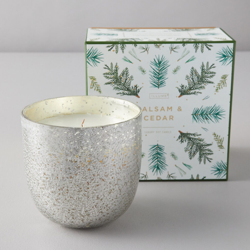 Illume Mercury Glass Candle, Balsam + Cedar $58.00