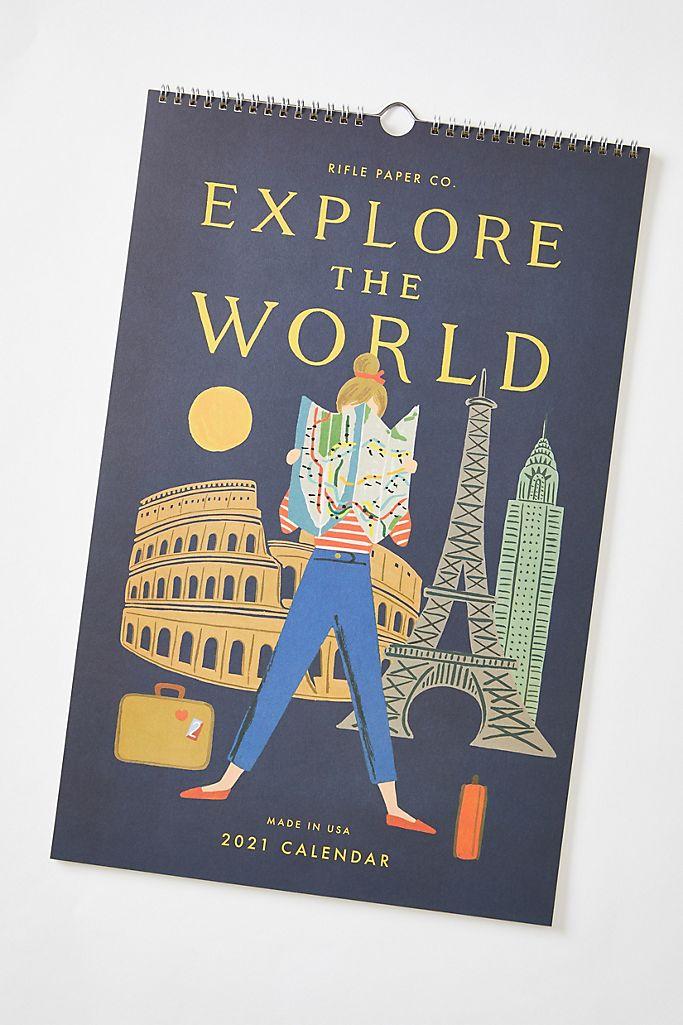 Rifle Paper Co. Explore The World 2021 Wall Calendar $26.00