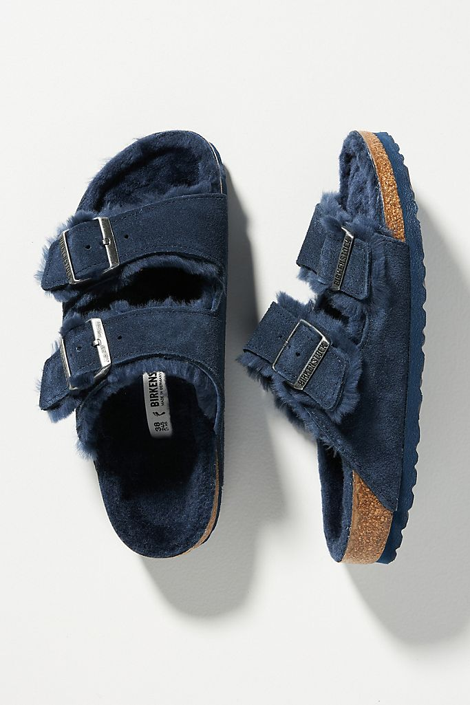 Birkenstock Arizona Shearling-Lined Sandals $150.00