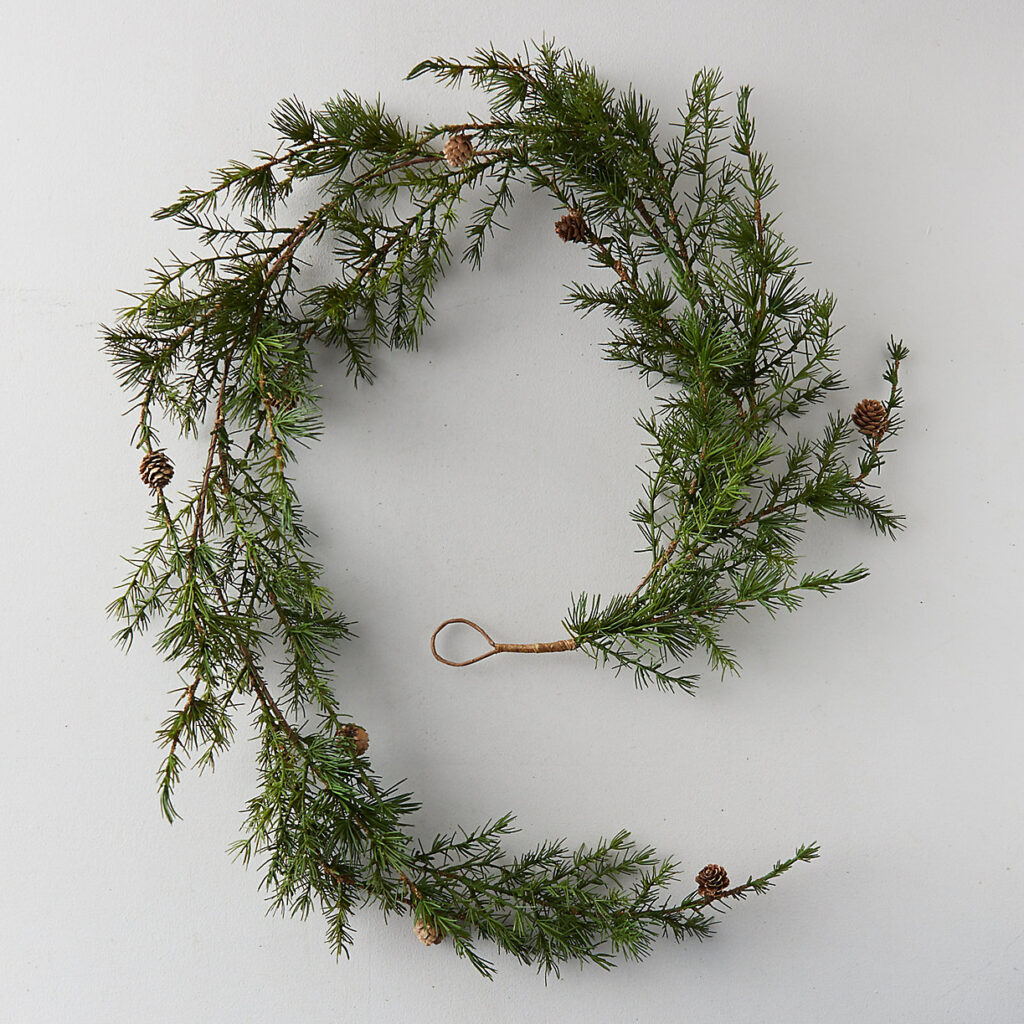 Faux Larch Garland $44.00
