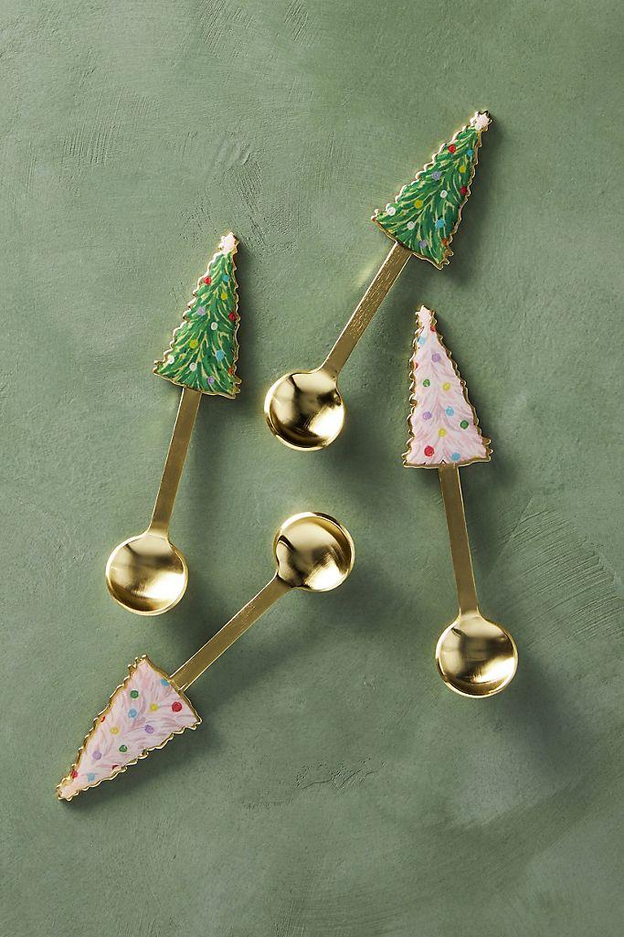Holiday Tree Teaspoons, Set of 4 $32.00