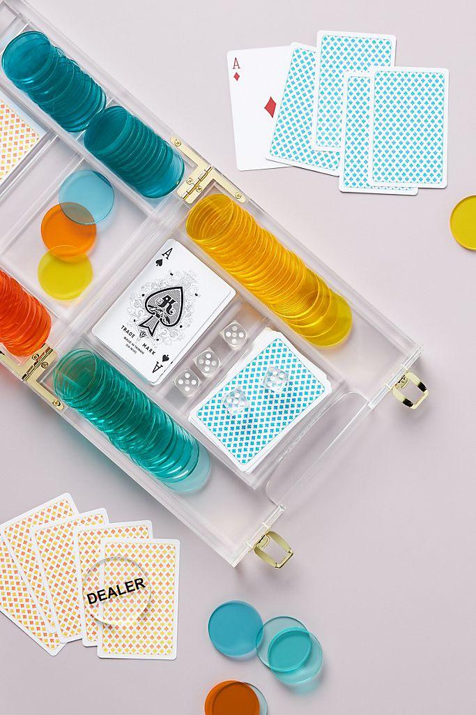 Sunnylife Lucite Poker Set $140.00