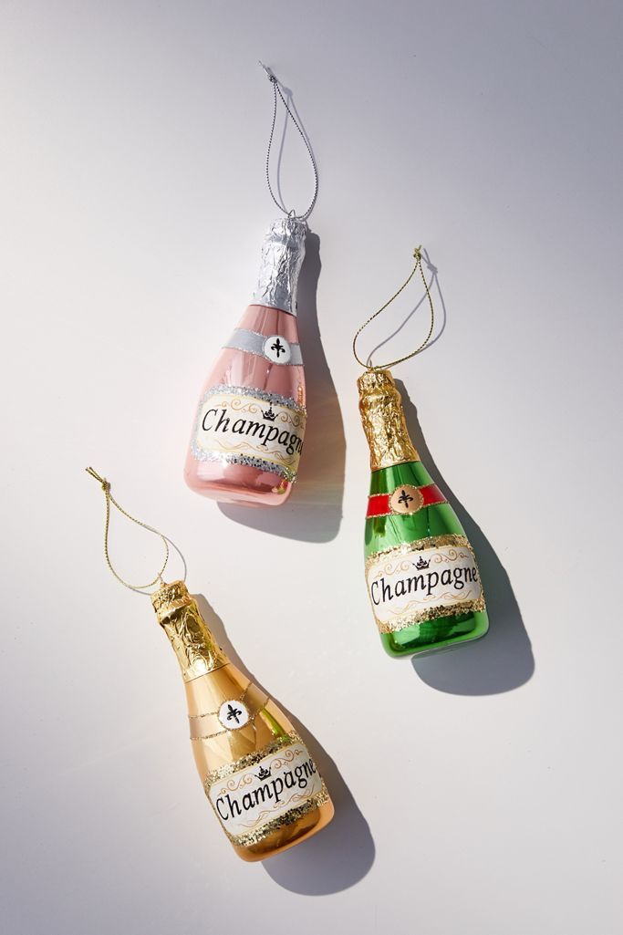 Champagne Christmas Ornament $12.00