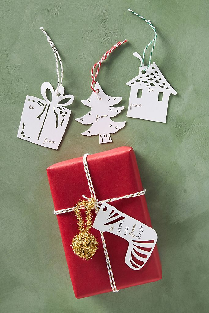 Annie Howe Papercuts Holiday Gift Tags, Set of 12 $10.00