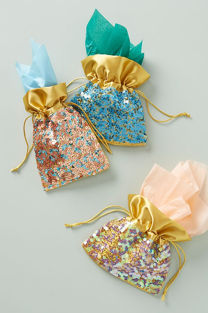 Sequined Satin Gift Bag $12.00
