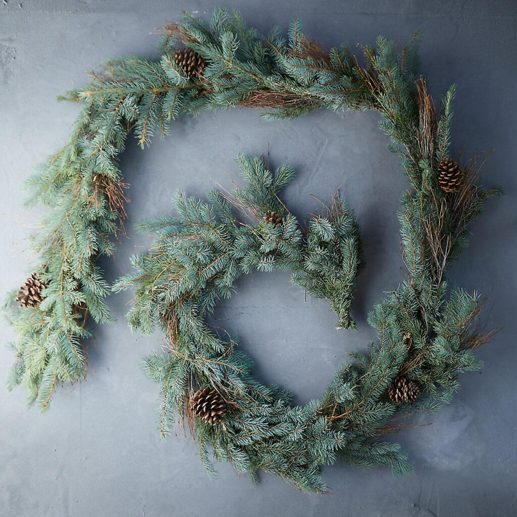 Fresh Fir + Pine Cone Garland $128.00