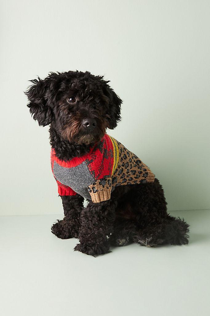Leopard & Plaid Dog Sweater $80.00