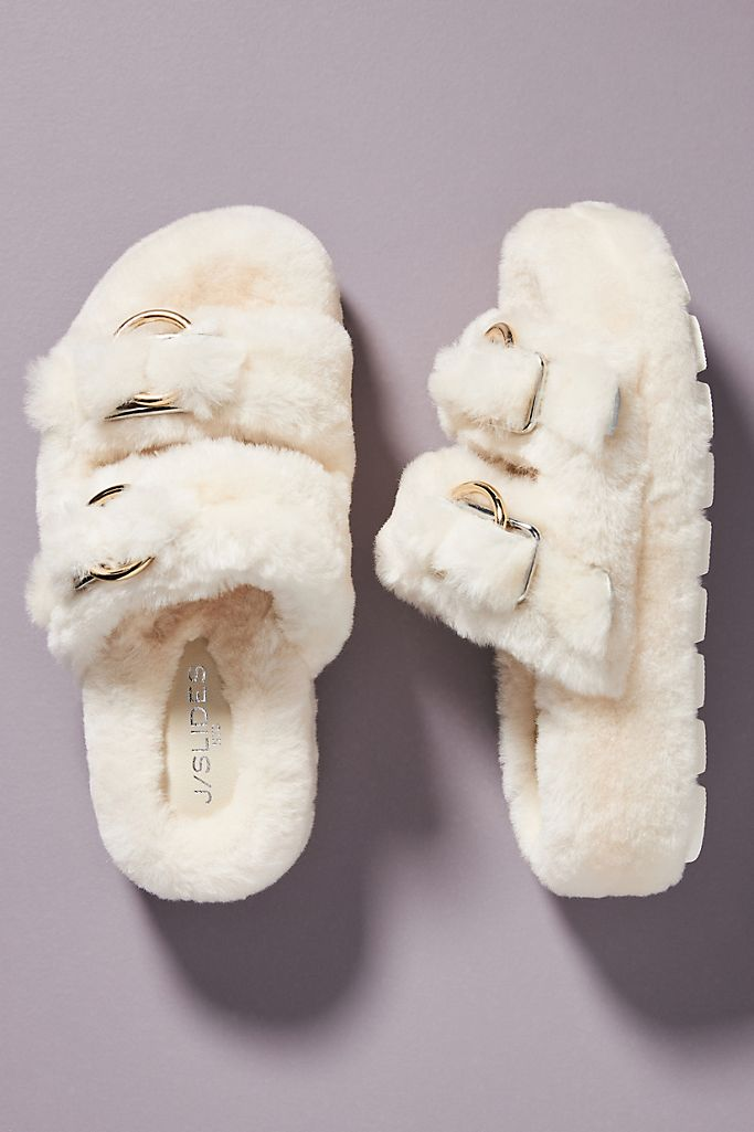 J/Slides Brooke Shearling Slippers $170.00