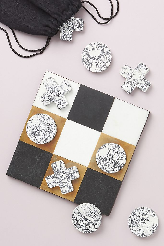 Luxe Marble Tic-Tac-Toe Game $98.00