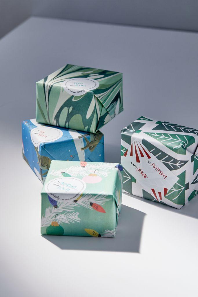 Wrappily Holiday Eco Reversible Gift Wrap Sheet Set $10.00