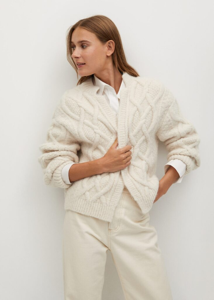 Chunky knit cardigan $69.99