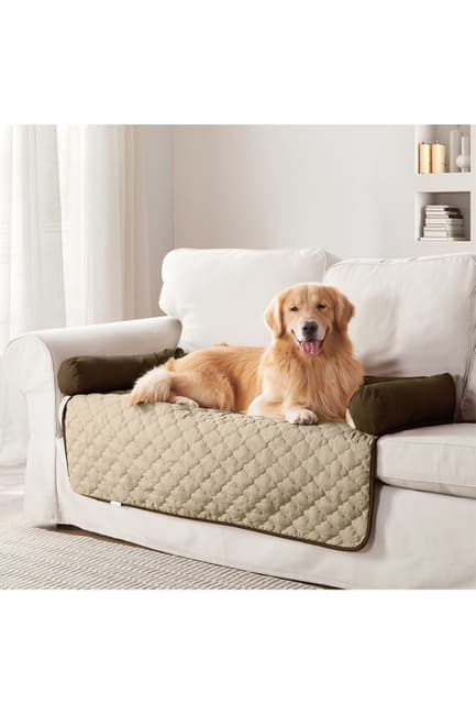 Duck River Textile Chocolate/Natural Wubba Reversible Pet Bed & Sofa Cover $29.97