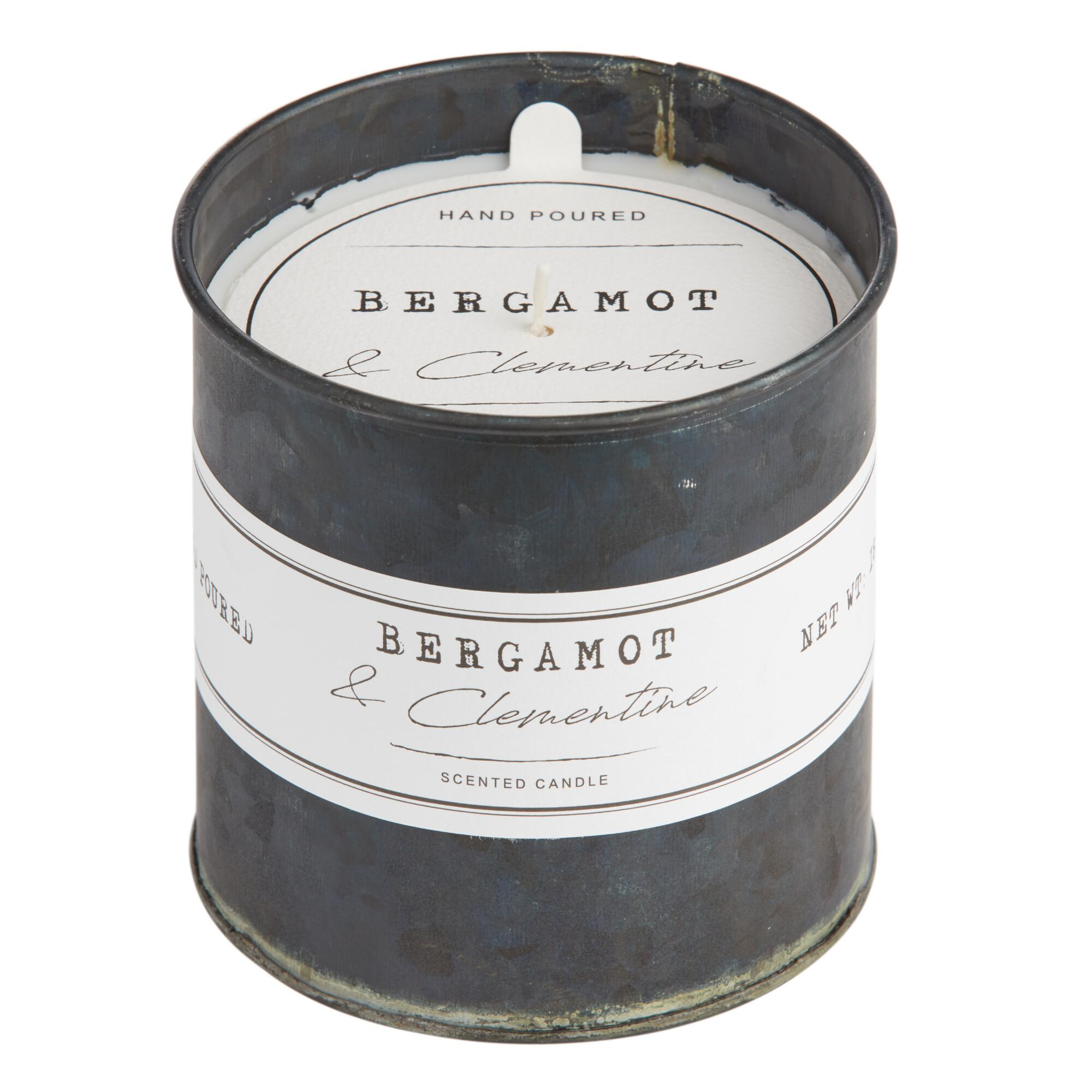 Bergamot And Clementine Antique Oil Tin Filled Candle $16.99