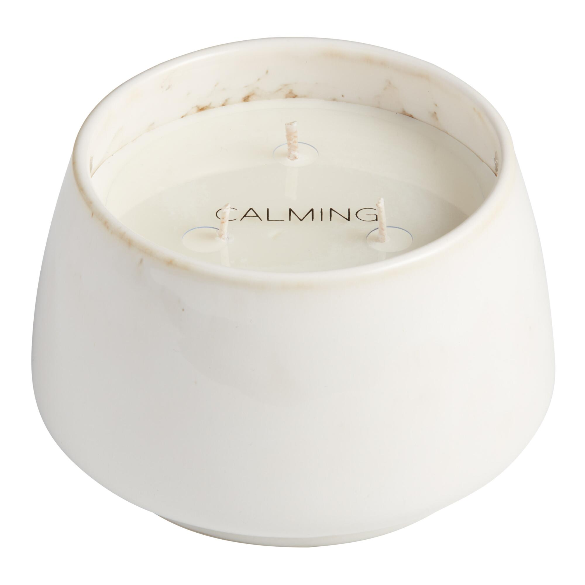 Calming Neutrals Soy Wax Reactive Glaze Filled Jar Candle $14.99