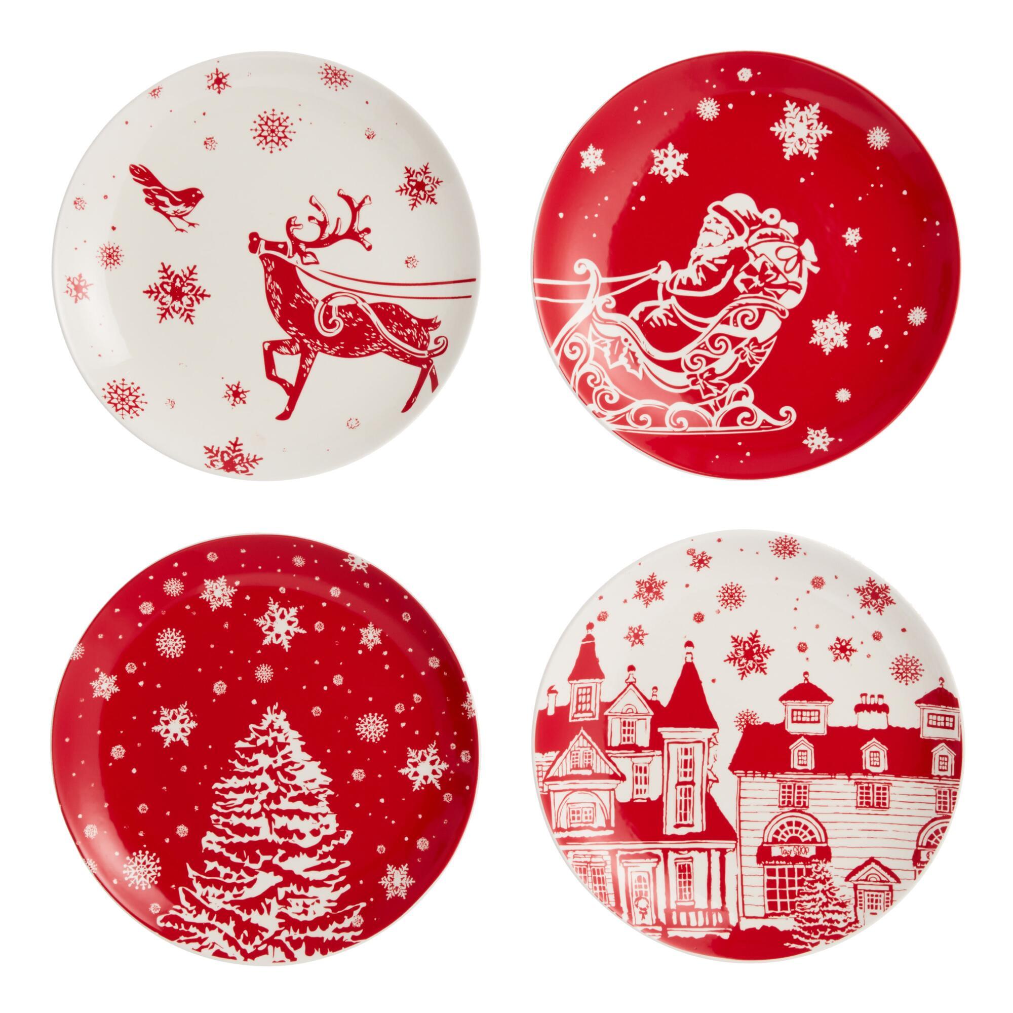 Winter Wonderland Holiday Plates 4 Pack $29.99
