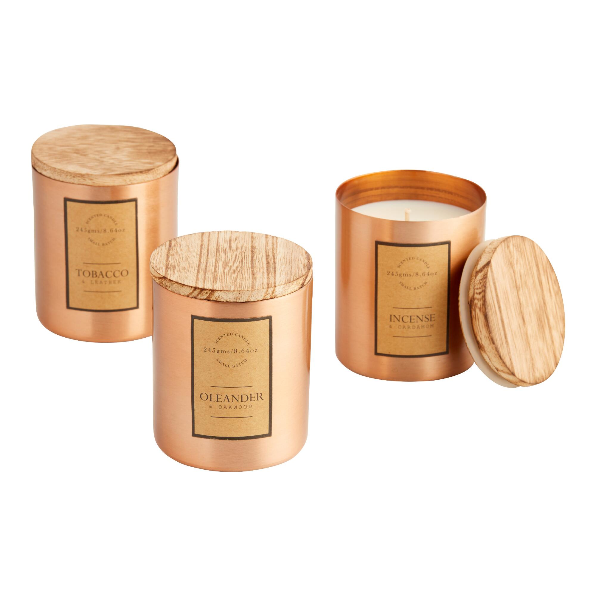 Copper Metal Filled Jar Candle $14.99