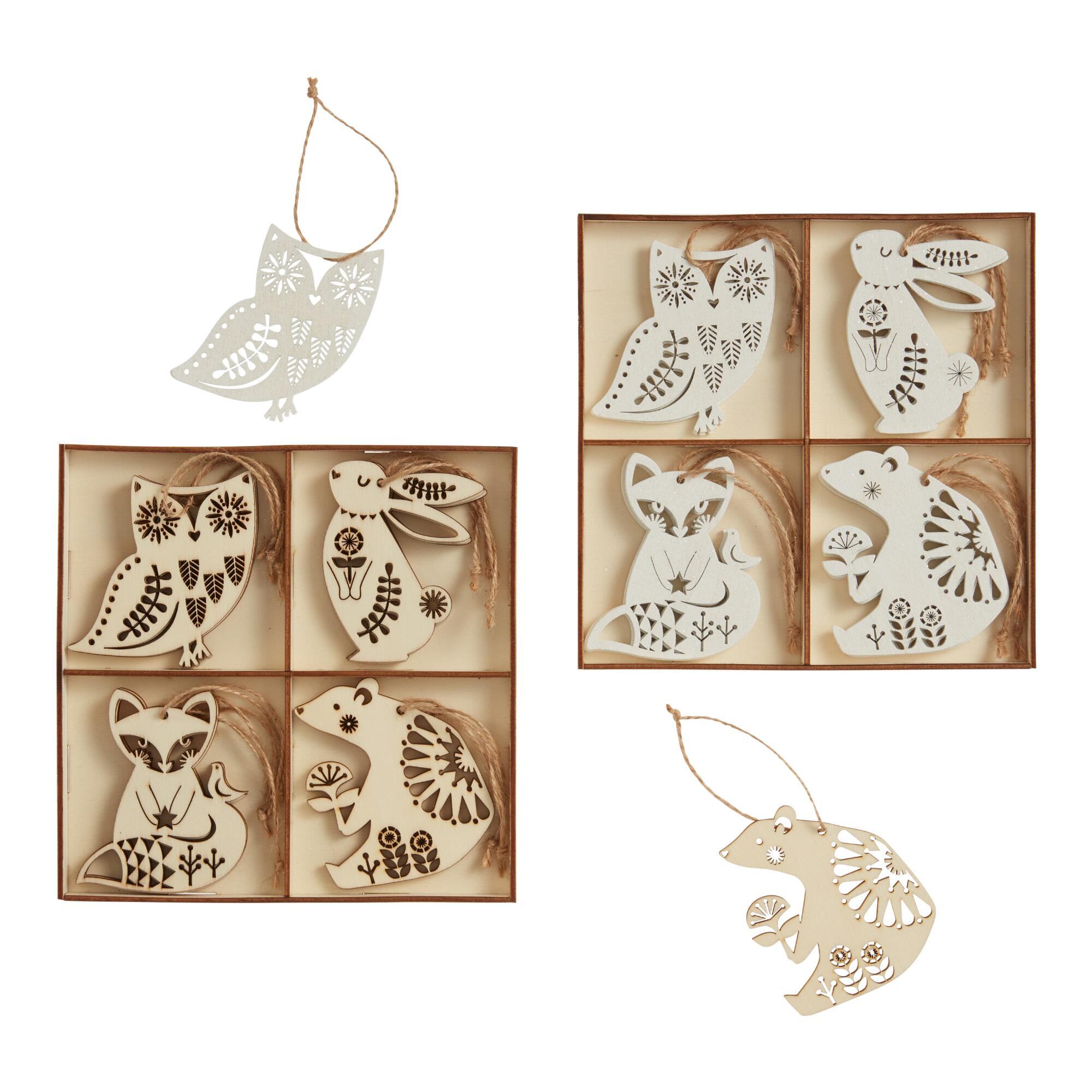 12 Pack Wood Nordic Animal Ornaments Set Of 2 $19.98 https://fave.co/3nb2GKl