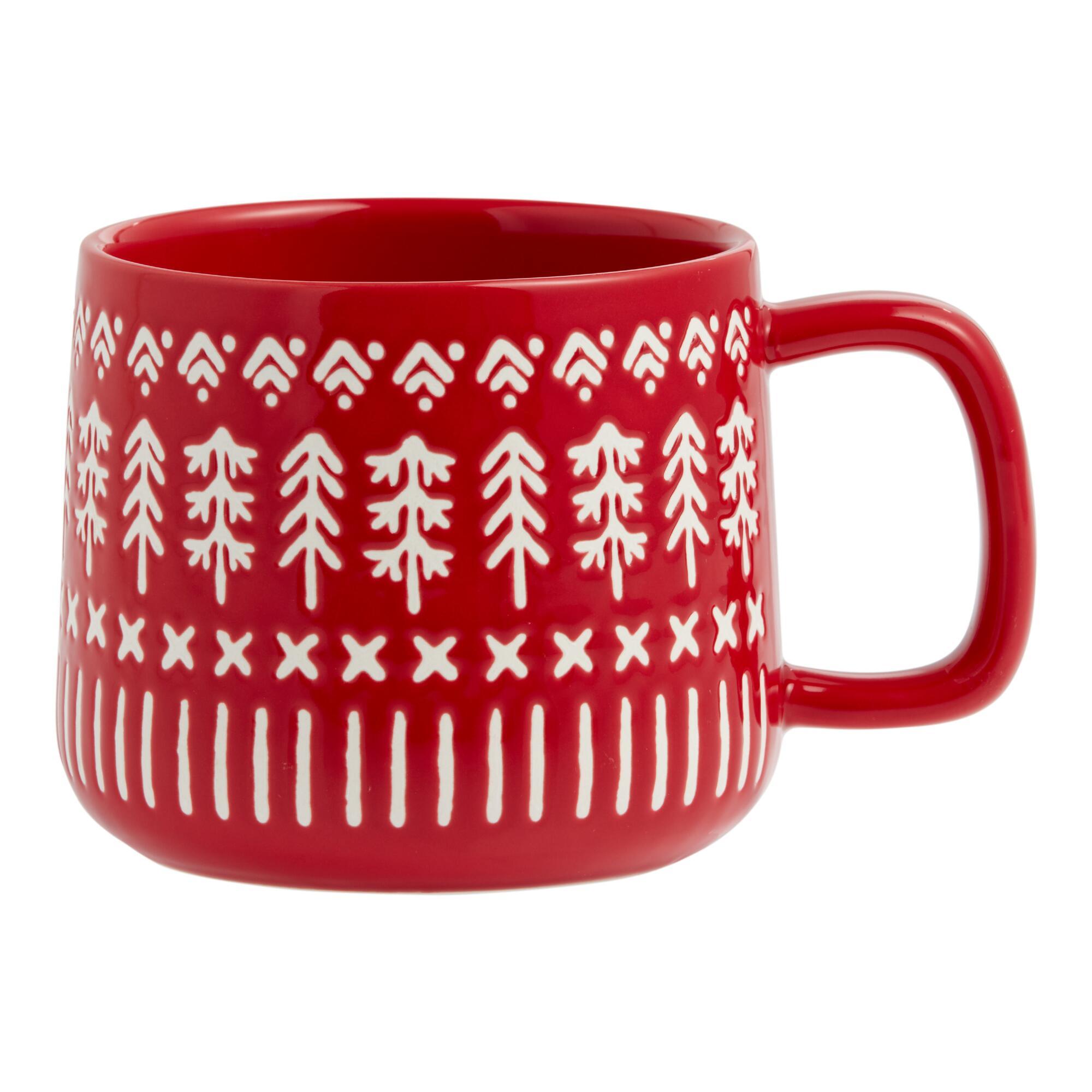 Holiday Wax Resist Mud Cloth Mug $7.99