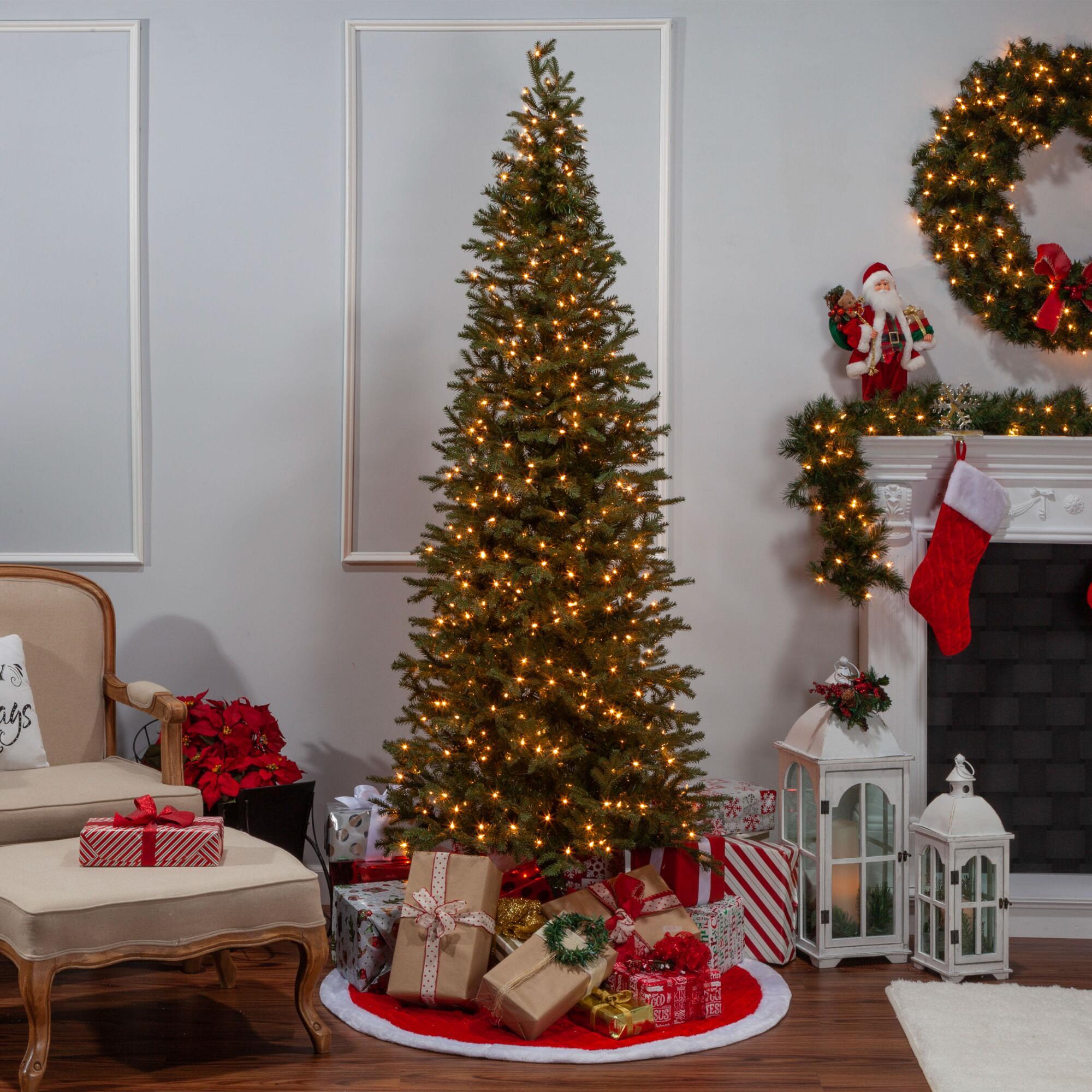 Narrow Pre Lit Led Artificial Natural Cut Jackson Pine Tree $299.99-$999.99