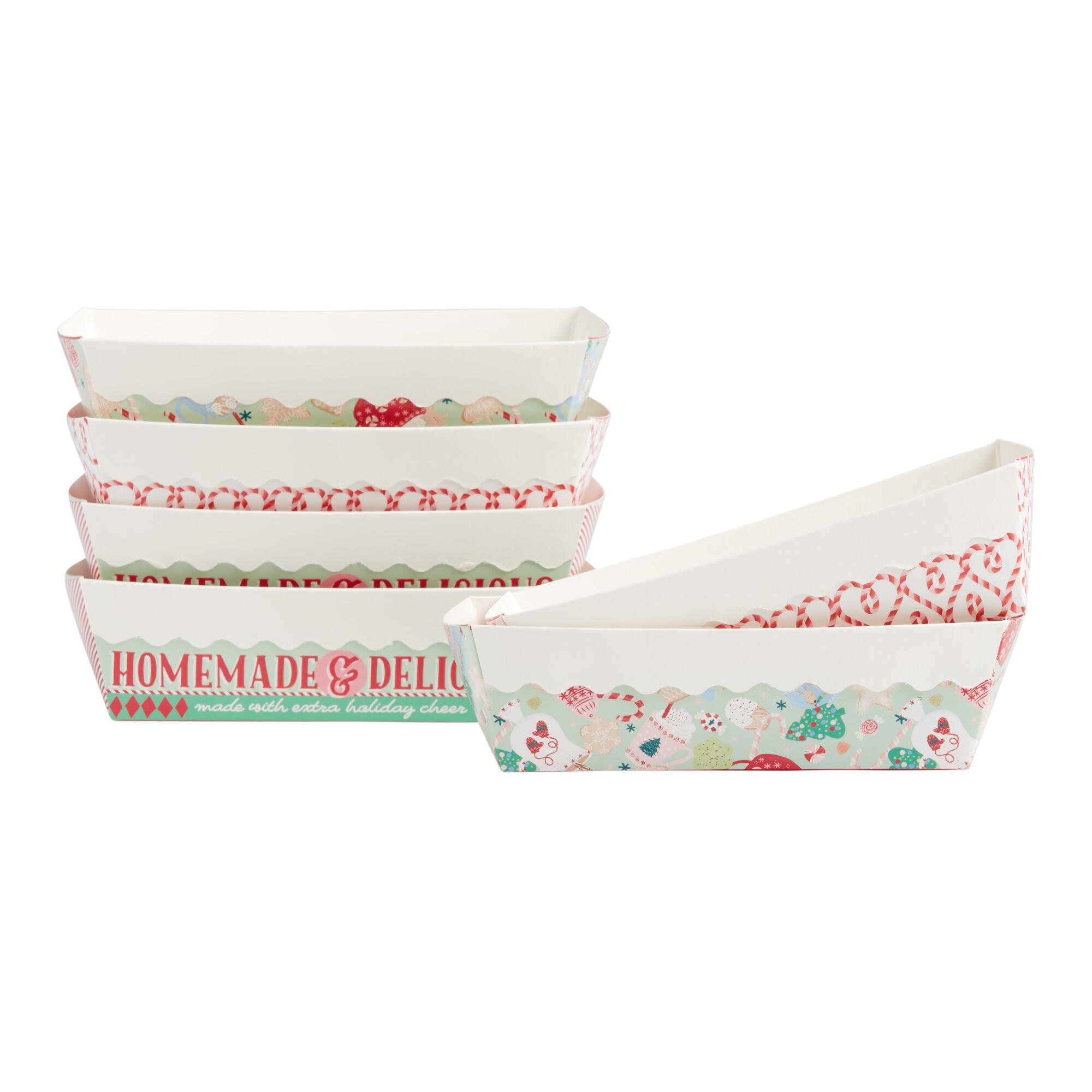 Holiday Paper Loaf Pans 6 Pack $5.99