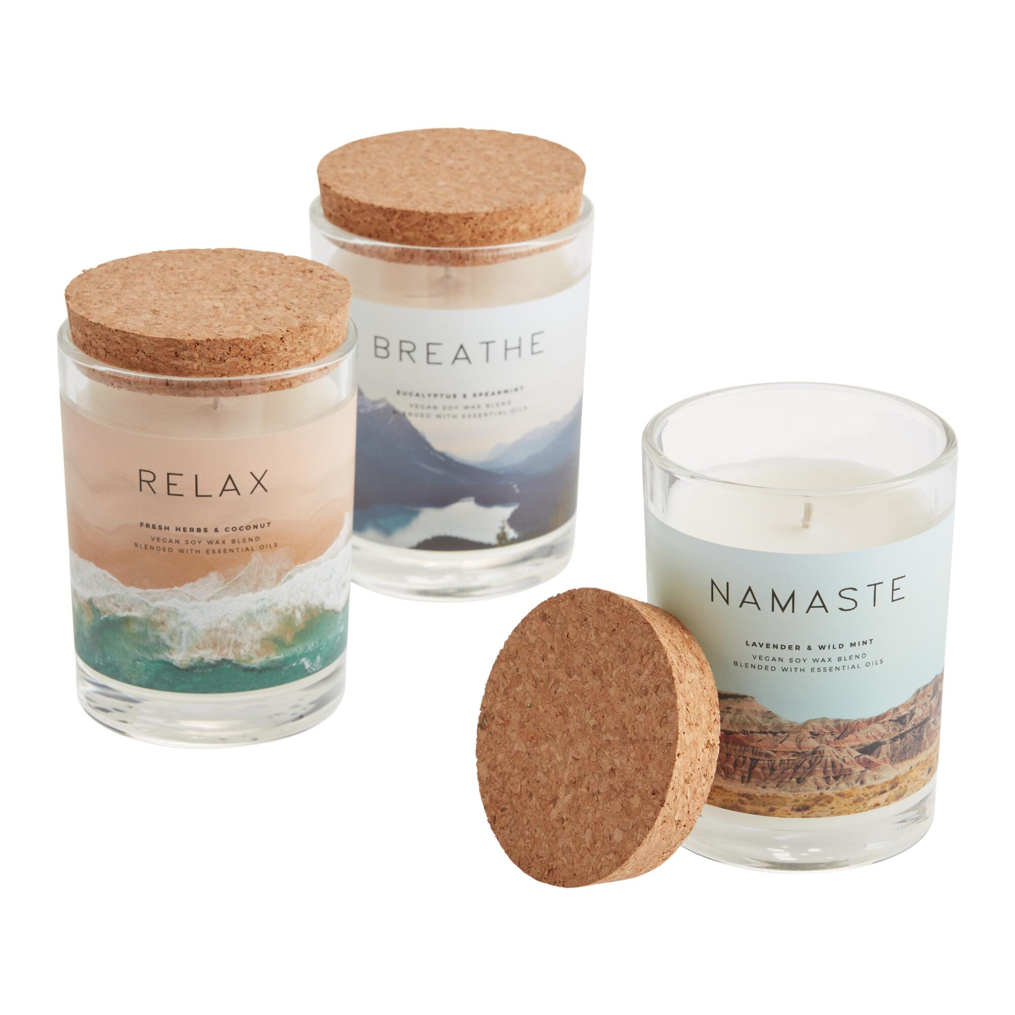 Meditative Filled Jar Candle $12.99