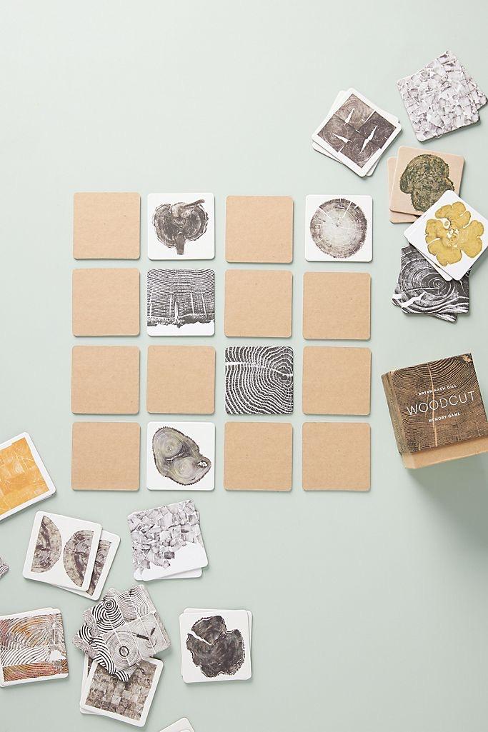 Woodcut Memory Game $20.00