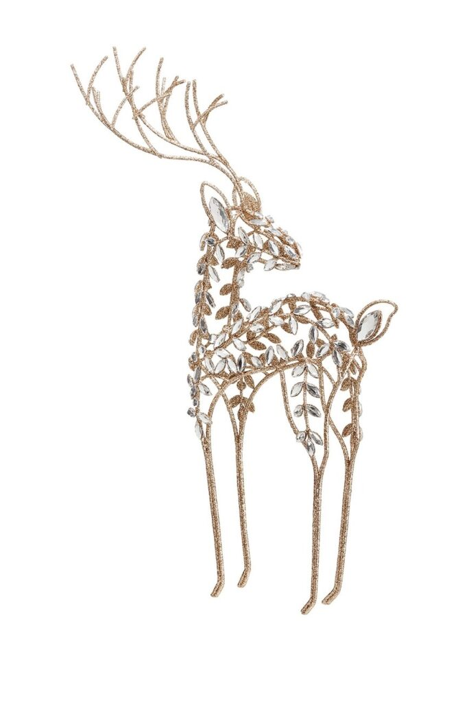 "ALLSTATE 23.75\"" Glittered Rhinestone Reindeer $50.97"