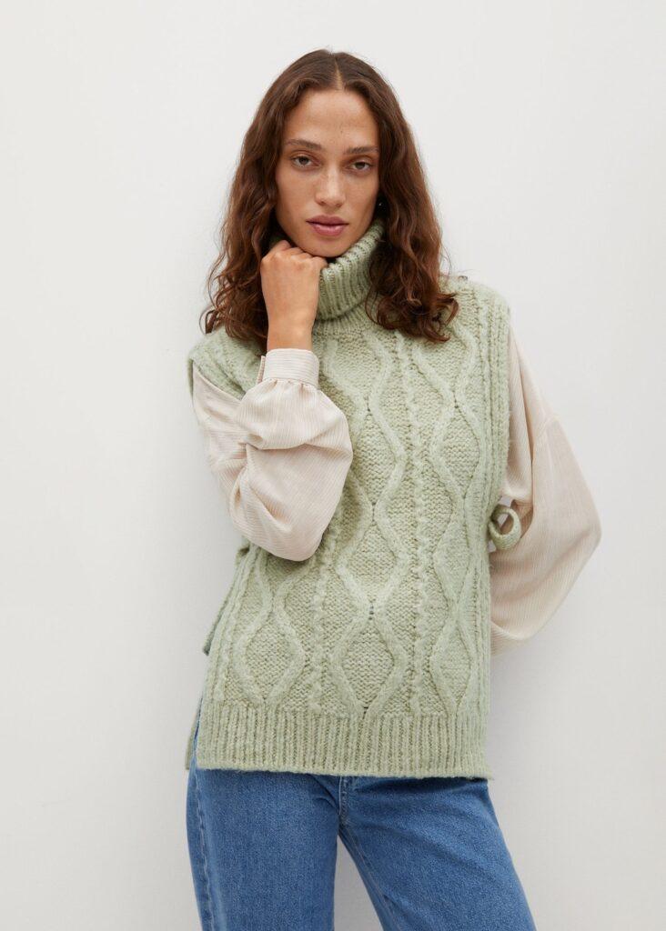 Turtleneck knit Gillet $59.99