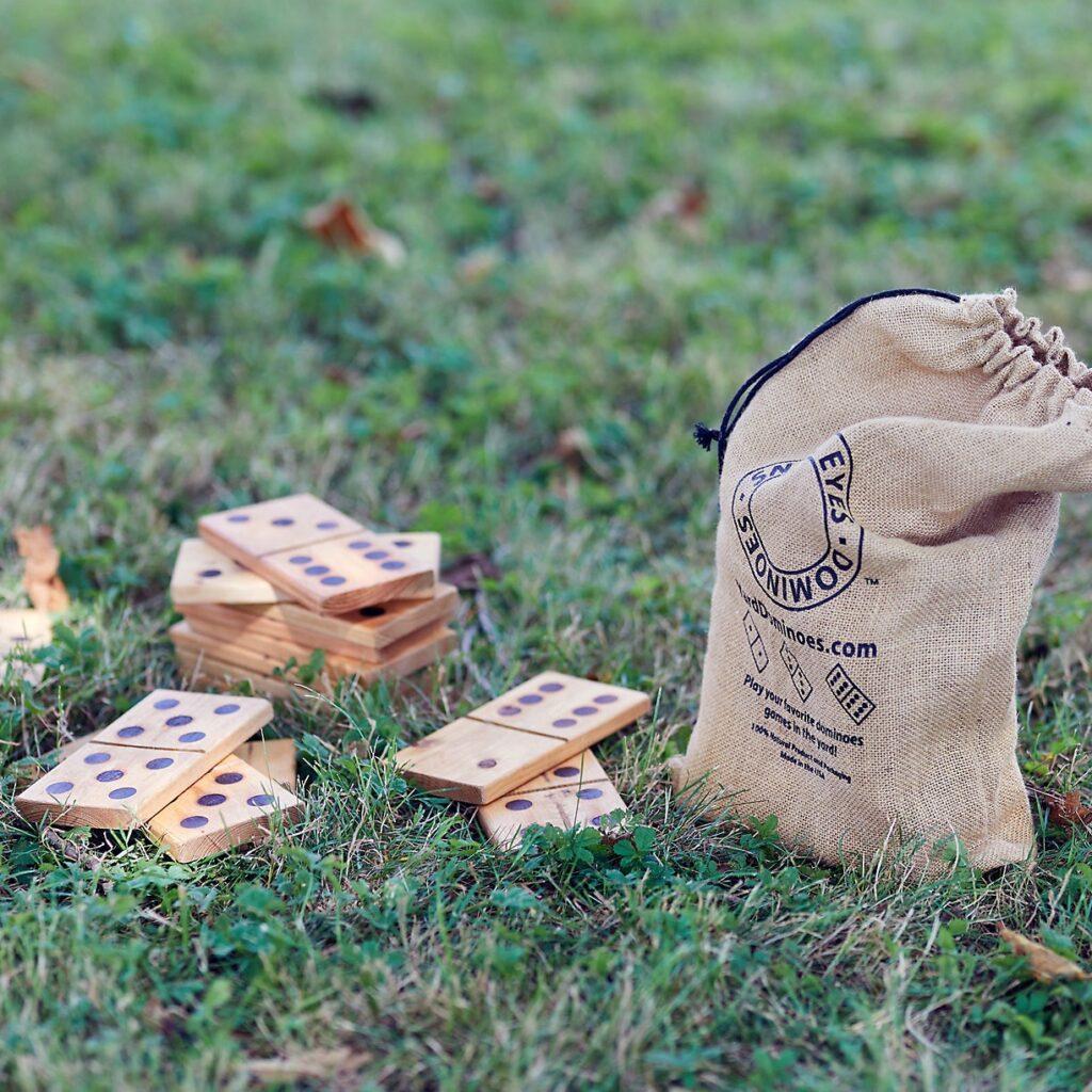 Wooden Yard Dominoes $98.00