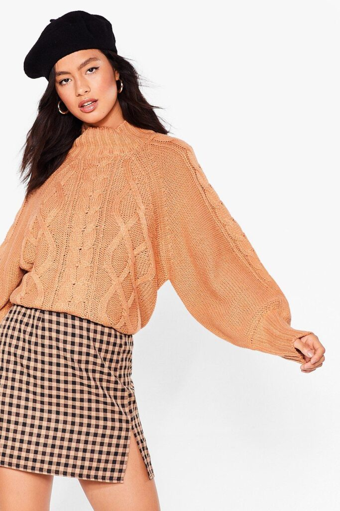 Cable to Love Balloon Sleeve Sweater $19.20