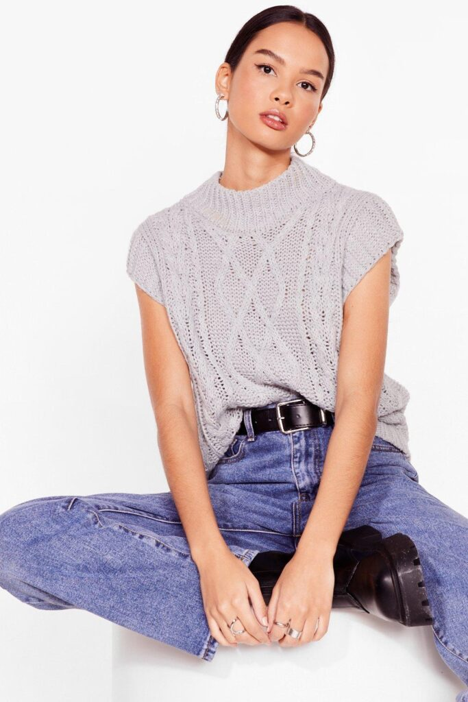 Hot On Their Tracks Cable Knit Tank Top $22.40