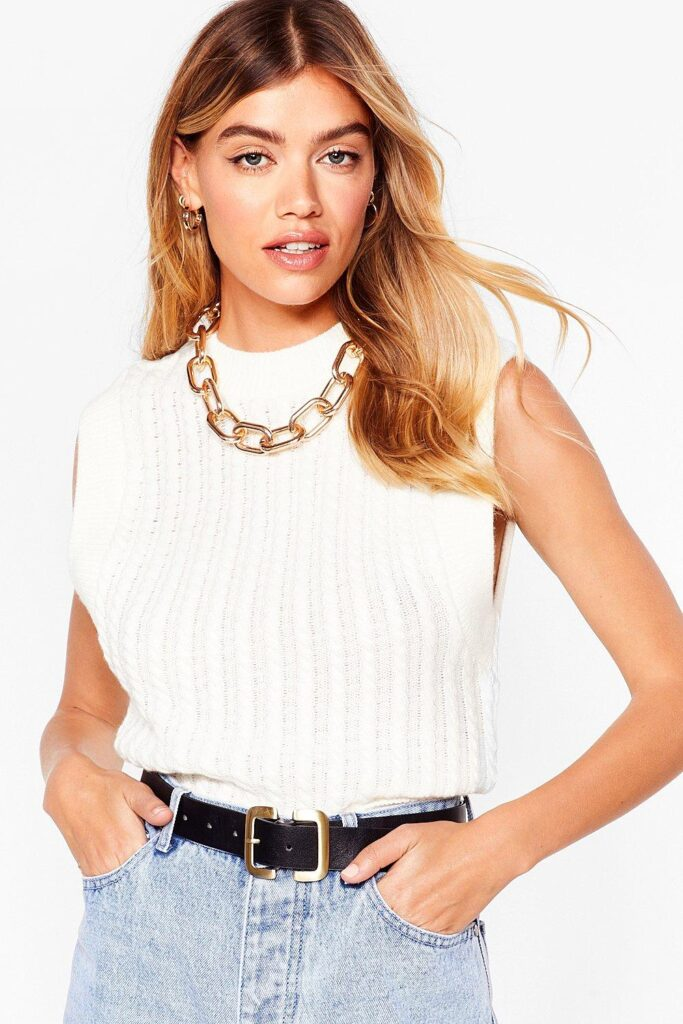 How the Cables Turn Knit Tank Top $22.40