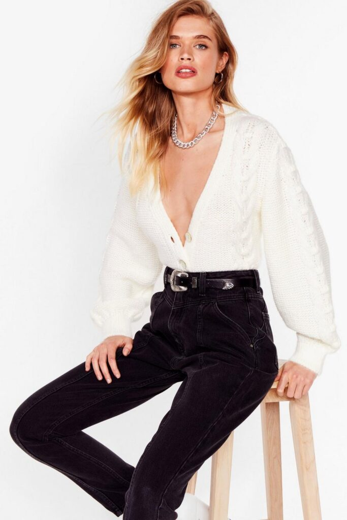 Lay Your Cards on the Cable Knit Cropped Cardigan $24.00