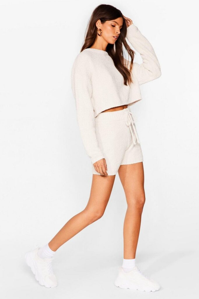 Soften the Blow Fluffy Knit Relaxed Shorts $18.00