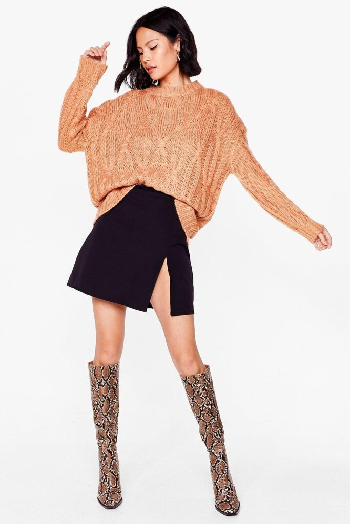 When Cable Knit\'s All Oversized Sweater $20.00