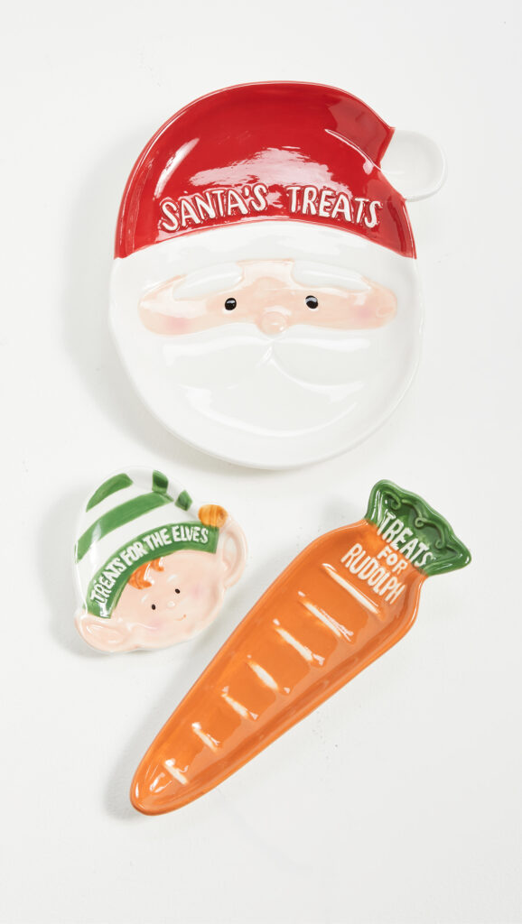 Gift Boutique Holiday Treats Set of 3 Tidbit Plates $32.00