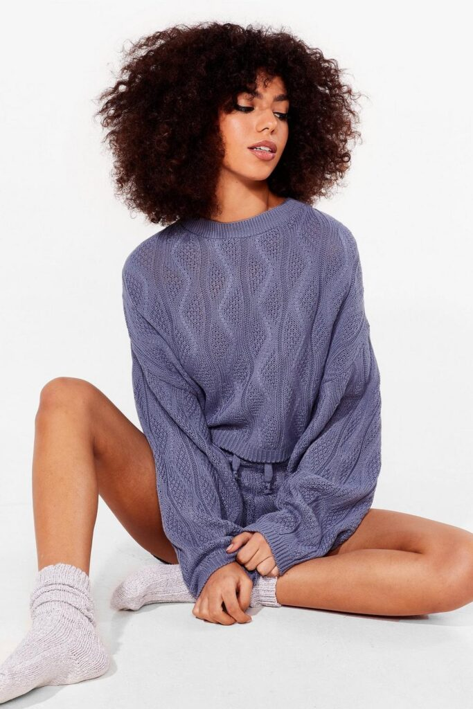 Cable Knit\'s Complicated Sweater and Shorts Set $22.40