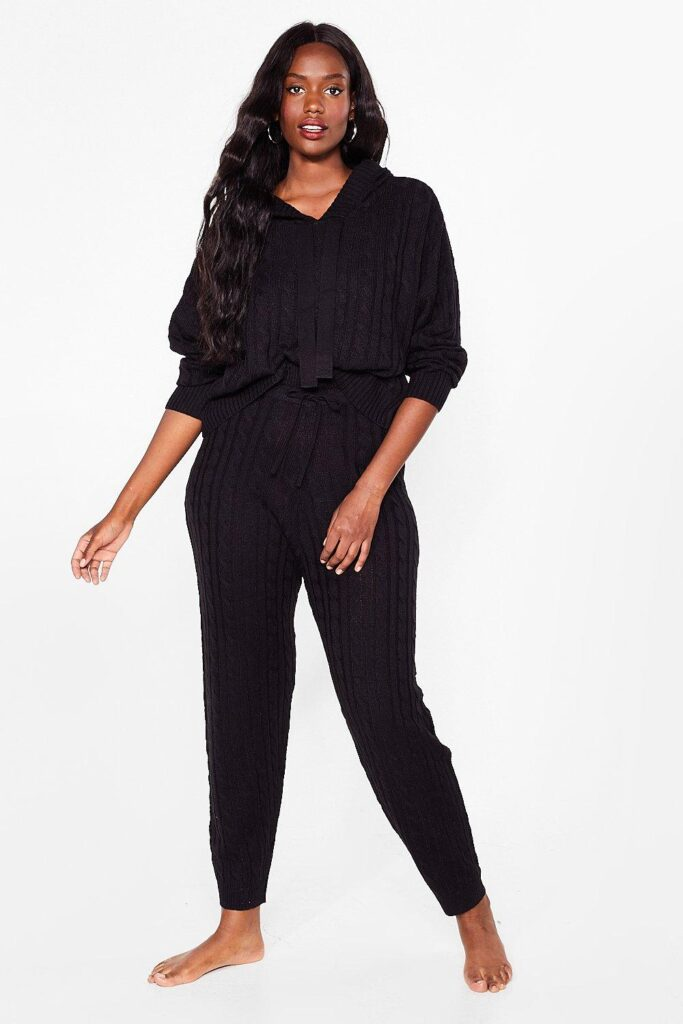 Offers Off the Cable Knit Plus Lounge Set $28.80