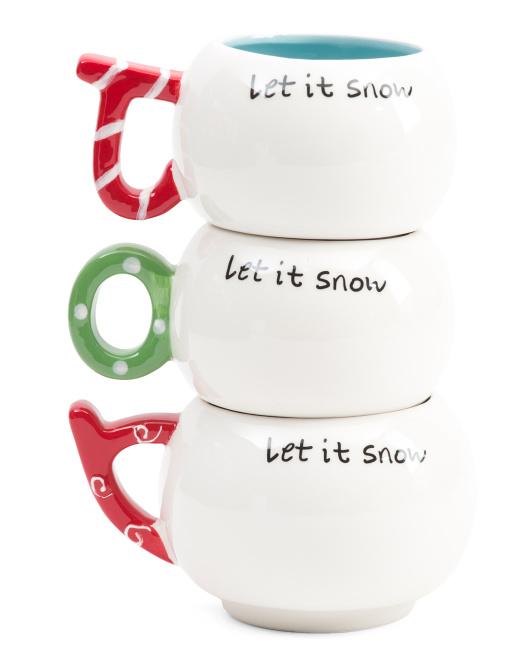 ARLINGTON DESIGNS Stackable Joy Mug Set $9.99