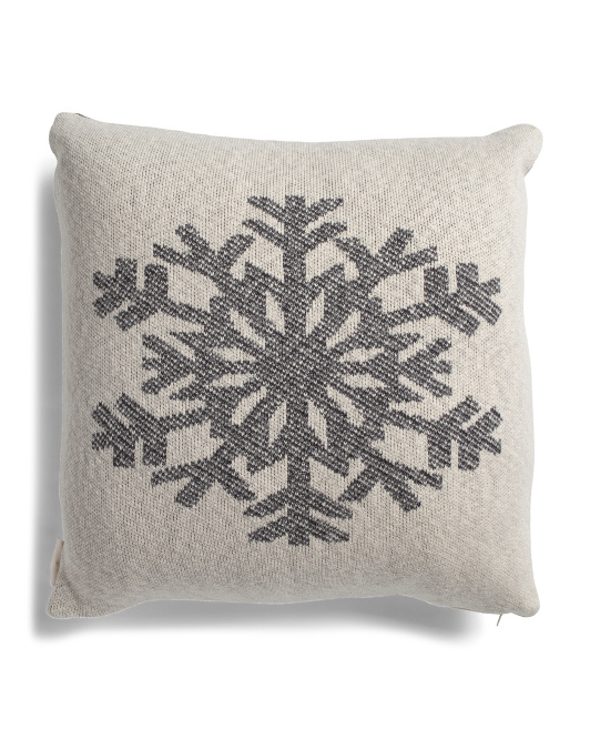 HANDCRAFTED IN INDIA 20x20 Snowflake Pillow $19.99