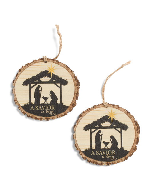 P. GRAHAM DUNN Set Of 2 Nativity Ornaments $4.99