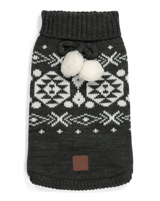 JLA PETS Fairisle Dog Sweater $12.99