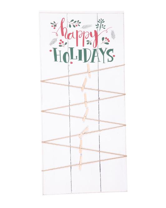 SIXTREES 20x40 Happy Holidays Card Holder $39.99