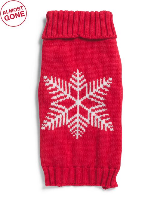 HARRY BARKER Snowflake Pet Sweater $12.99