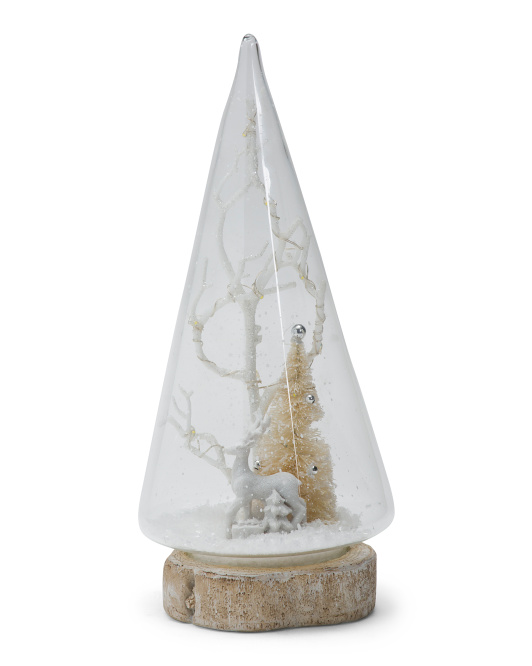11in Reindeer Scene With Led Lights $24.99